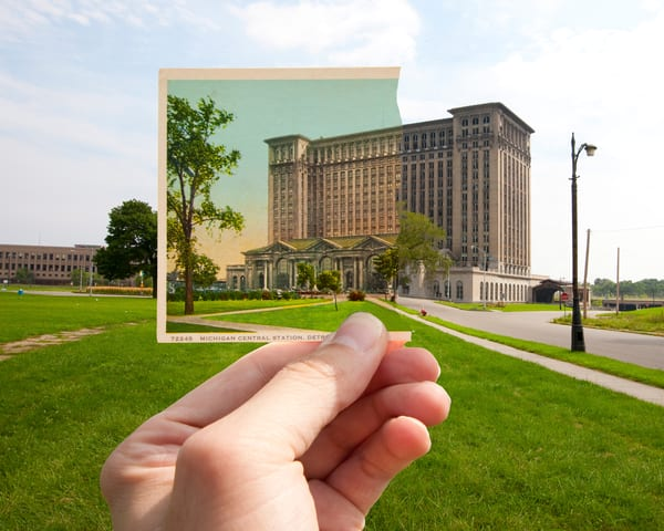 Michigan Central Station Postcard Photography Art | Lance Rosol Fine Art Photography