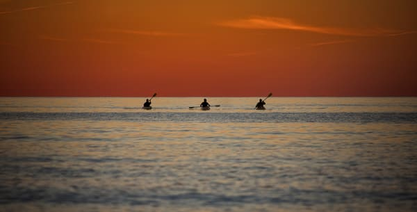 Lake Michigan Sunset Kayakers Photography Art | Lance Rosol Fine Art Photography