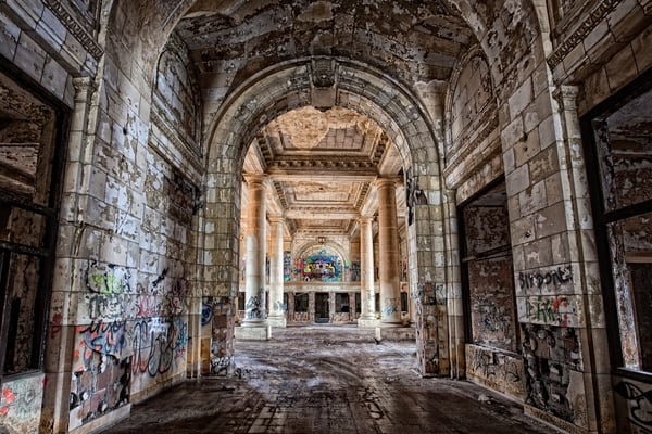 Michigan Central Station Grand Hallway Photography Art | Lance Rosol Fine Art Photography