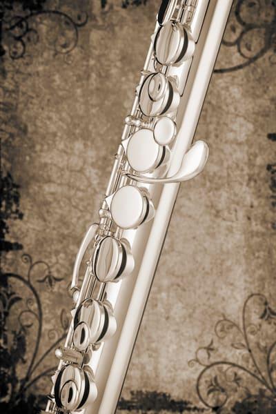 Alto Flute Music Art in Sepia 3402.01