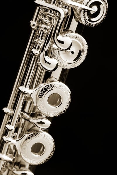 Flute Music Instrument Keys Canvas Prints 3449.01