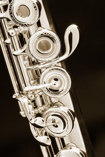 Metal Art Flute Music Instrument G Key 3446.01