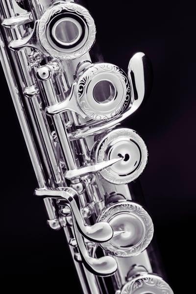 Flute Music Instrument Metal Wall Art  3441.03