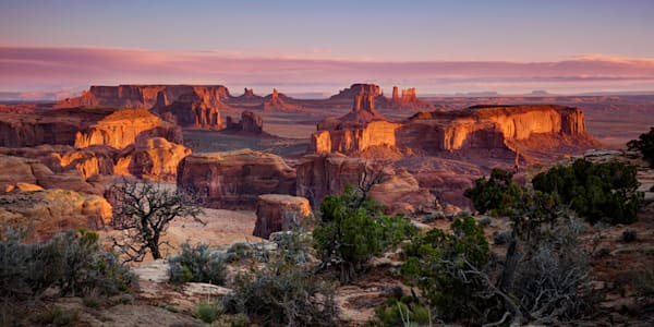 0855 6 7 Hunts Mesa Sunrise 8x4 Art | Cunningham Gallery