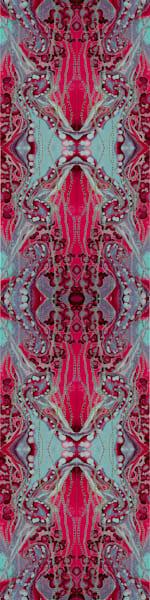 Seafoam Red Scarf