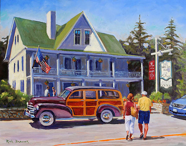 White Gull Inn print by Rick Brawner.