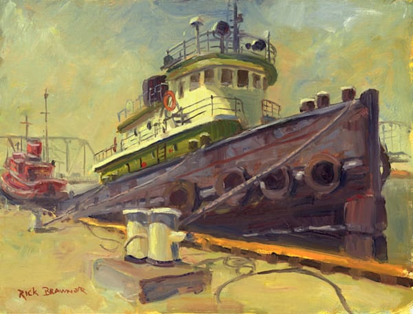 Sturgeon Bay Tug print by Rick Brawner.