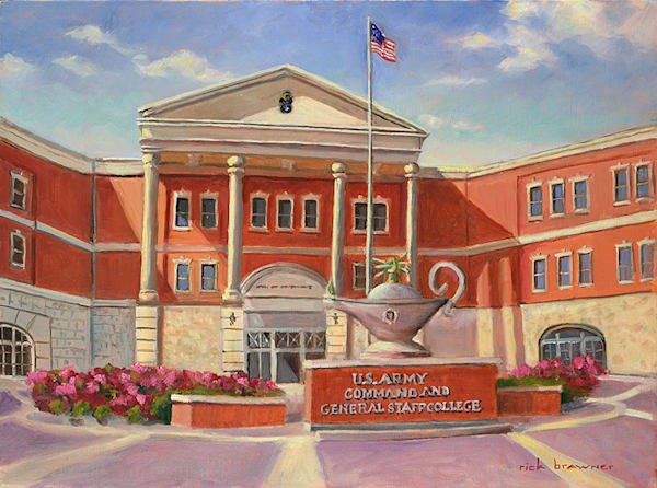 US Army Command and General Staff College painting by Rick Brawner.