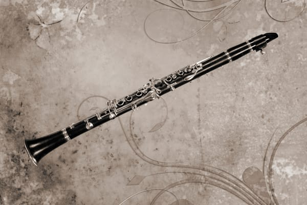 Canvas Art Clarinet Music Instrument 3260.01
