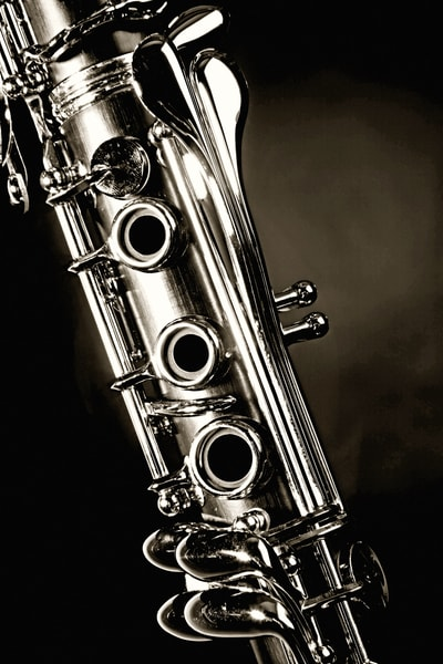 Clarinet Black and White Fine Art Photographs for Canvas or Metal Prints