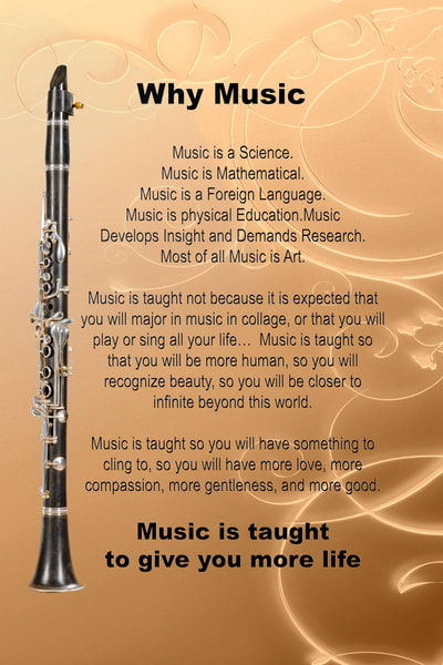 Clarinet Why Music Metal Wall Art 4825.02