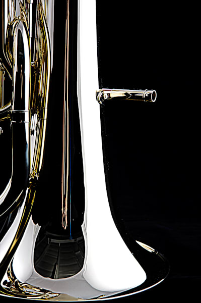 Canvas Prints Tuba Bell On Black Tuba BK7