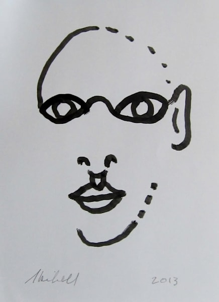 Face Pieces original ink drawing