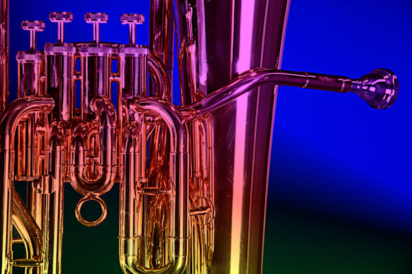 Canvas Prints Tuba Valves at Dusk 104n