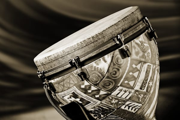 Modern Djembe Drum Metal Wall Art 3336.01