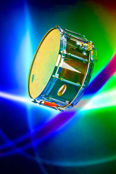 Snare Drum Abstract MEtal Wall Print 3239.02