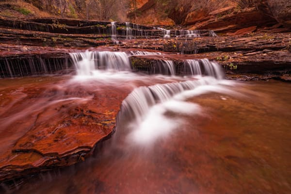 'Cascades & Red Stairs' Photograph by Jess Santos for sale as Fine Art
