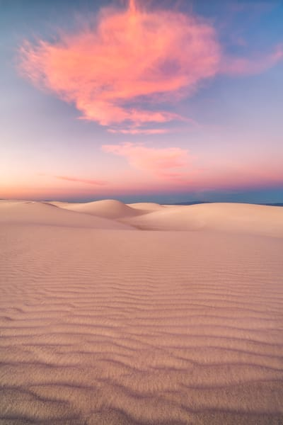 'White Sands & Pink Clouds' Photograph by Jess Santos for sale as Fine Art