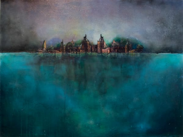 Castle And Water Art | Haley Litzinger