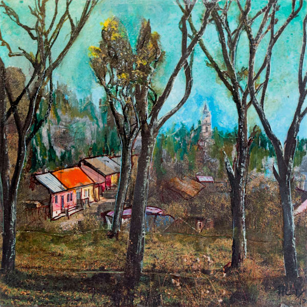 Village With Trees Art | Haley Litzinger
