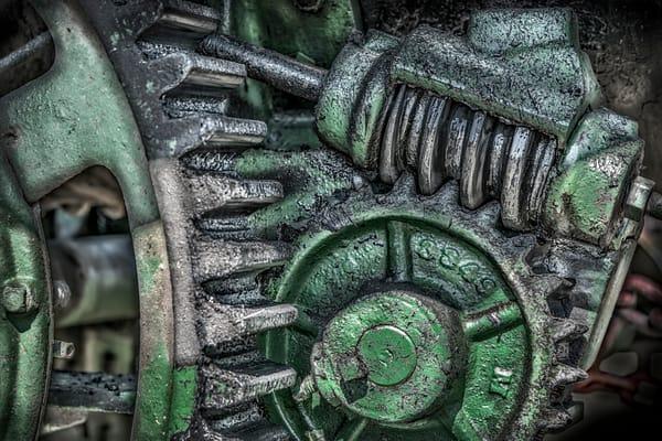 JL Case Steam Tractor Steering Gears Closeup Detail fleblanc