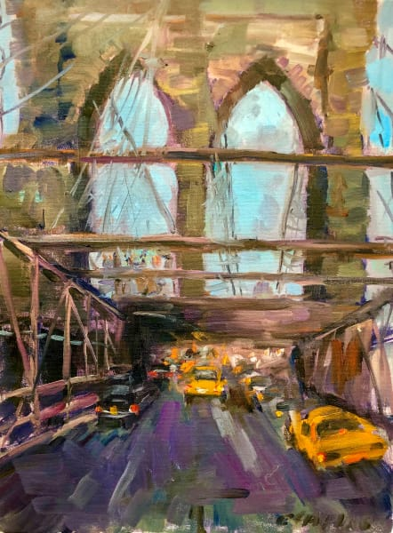 Brooklyn Bridge painting