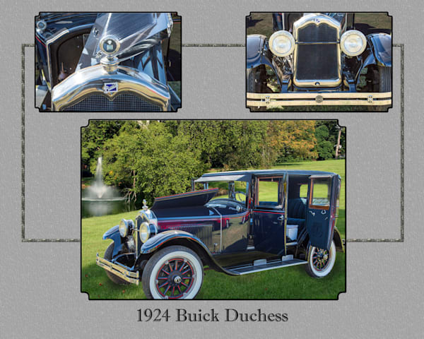 Classic Car Collage 1924 Buick Duchess 120