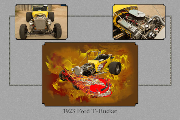 1923 Ford T Bucket Yellow