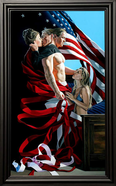 Undone painting on cheating/adultery | Kevin Grass Fine Art