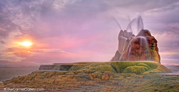 Fly Geyser at Sunrise