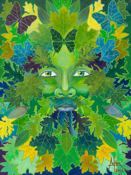limited-edition-print, green man, nature, magical