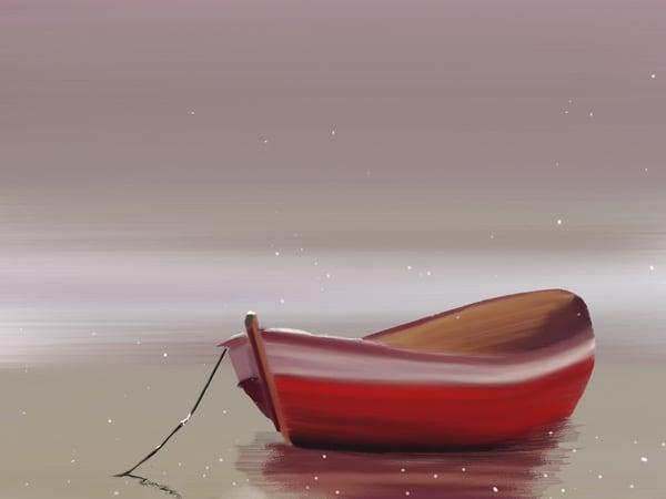 Christmas Boat Art   Dave Fox Studios