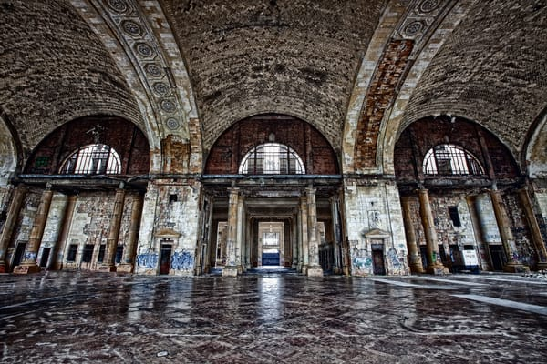 Michigan Central Station Grandeur (Color) Photography Art | Lance Rosol Fine Art Photography