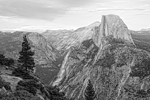 Halfdome As Sketch Photography Art | Lance Rosol Fine Art Photography