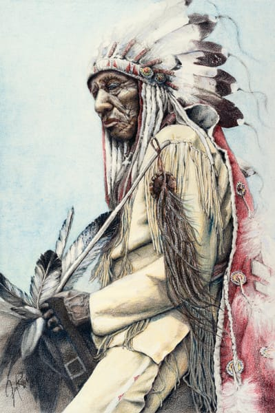 Native American Indian Portrait Art -- Drawings & Paintings & Prints for Sale | Main Store