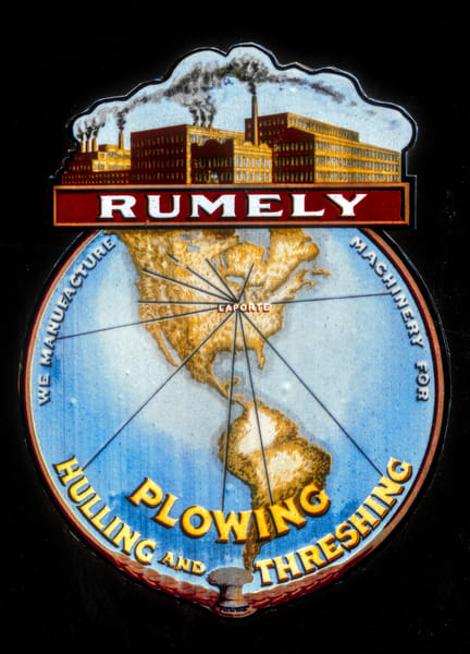 Rumley Plowing Threshing Steam Oil Pull Logo Emblem fleblanc