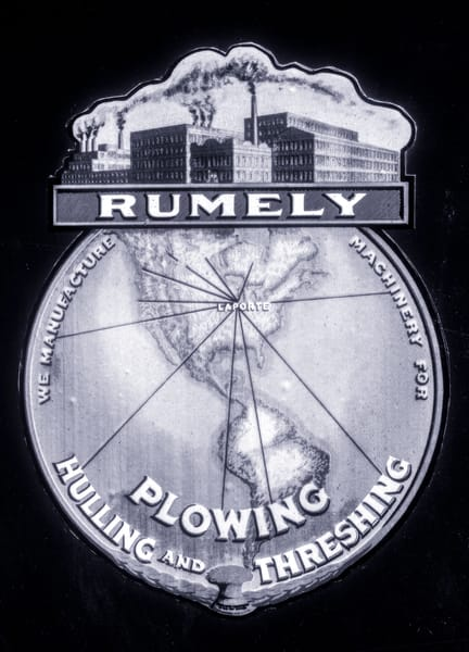 Rumley Plowing Threshing World Logo Emblem  fleblanc