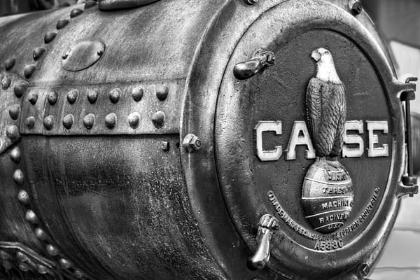 JL Case Steam Powered Tractor Front Emblem Closeup fleblanc