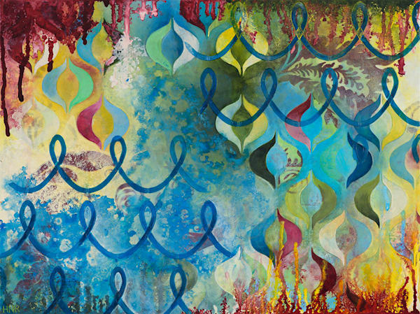 Bubbling Up, an original art painting by Heather Robinson