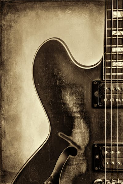 Guitar Photograph Black and White Art Prints, Canvas Metal