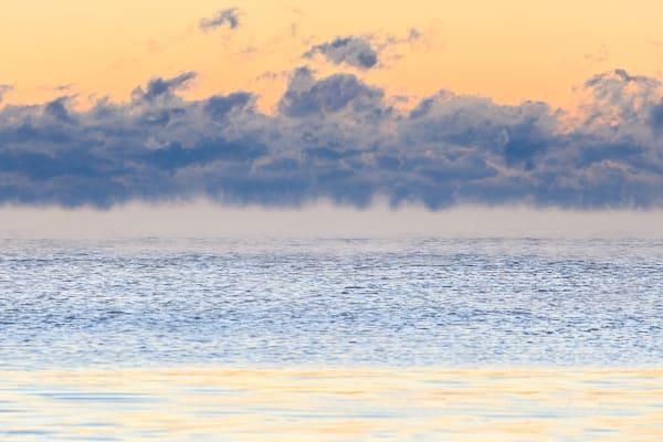 """""""Smoke on Water #1"""" Rockport MA Winter Sea Smoke Sunrise Photograph"""