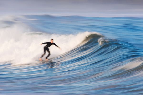 """Surfing Narragansett Beach"" - Fine Art Rhode Island Surf Photograph"