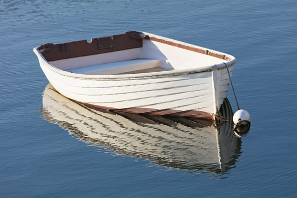 """Meme's Boat II"" Fine Art Rockport Harbor, MA Rowboat Photograph"