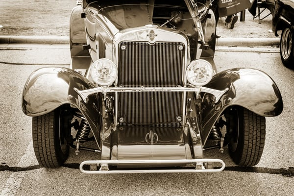 1929 Chevrolet Classic Car Front End 3126.01