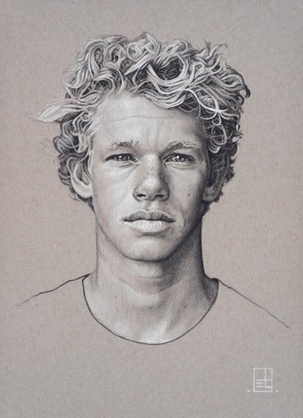 John John Florence Drawing by Steven Teller