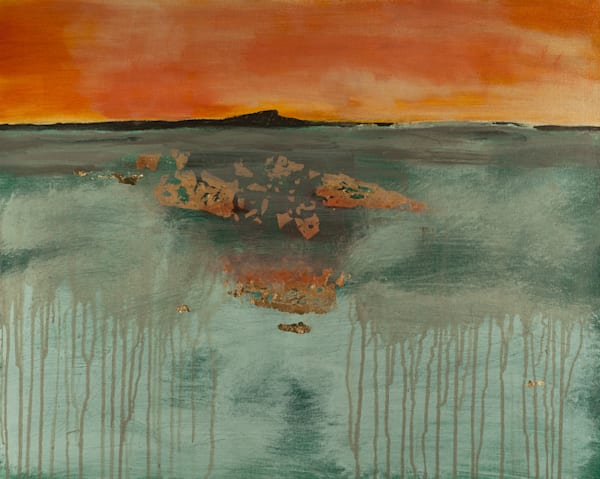 Smokeline contemporary abstract original landscape painting by Jana Kappeler.