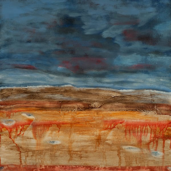 "Original scorched earth landscape painting entitled ""Ascension"" by Jana Kappeler"