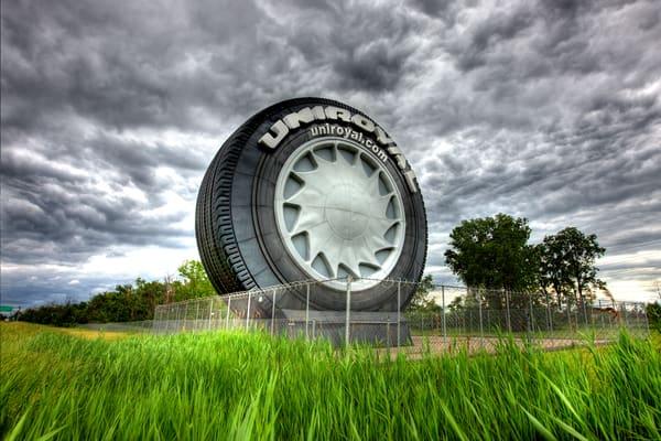 The Big Tire On I 94 Photography Art | Lance Rosol Fine Art Photography