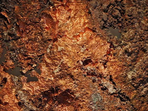 Raw Copper Abstract