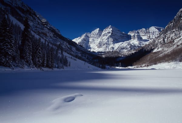 COL-4534 • Maroon Bells, Colorado, Winter